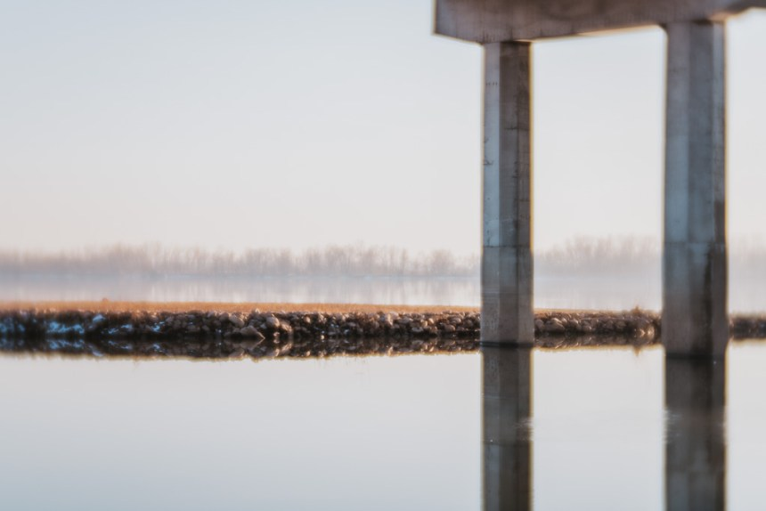 ethereal landscape water and bridge reflection fine art photography