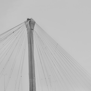 black and white bridge minimalism fine art photography