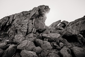 black and white rock formation limited edition fine art landscape