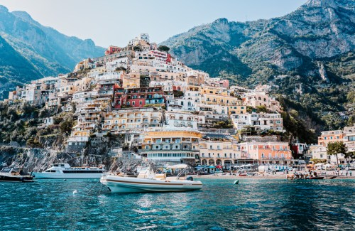 boat amalfi coast italy art photography