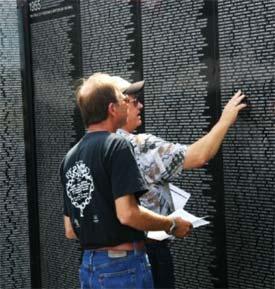 Traveling Vietnam War Memorial in Peshawbestown through Sunday