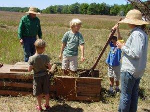 Making hay at the Port Oneida Fair