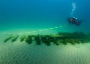 Ross Richardson documents a shipwreck in Lake Michigan