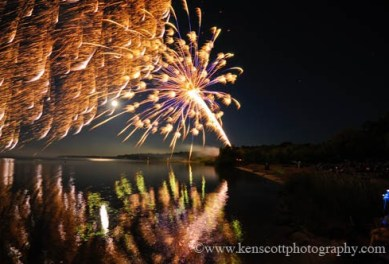 4th of july fireworks by ken scott