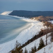Lake Michigan Ice Balls on the Sleeping Bear Dunes National Lakeshore