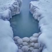 Lake Michigan Ice Balls on the Sleeping Bear Dunes National Lakeshore