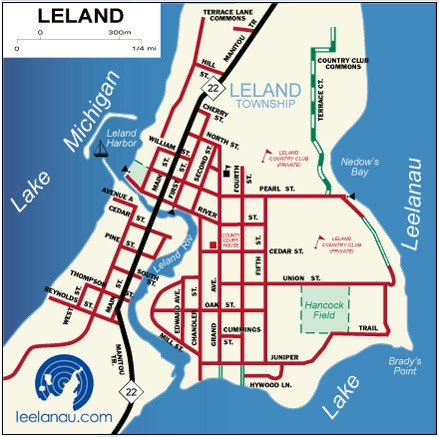 Leelanaucom Leelanau County Maps - Mi map