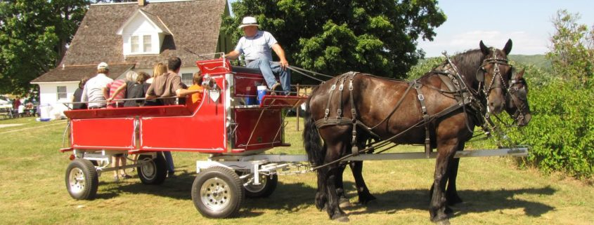 Wagon Rides at the Port Oneida Fair