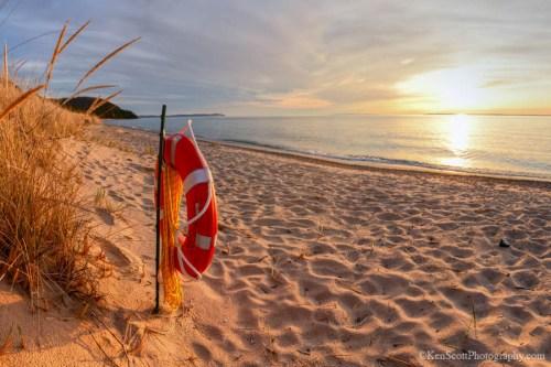 Lake Michigan ... Life Ring by Ken Scott