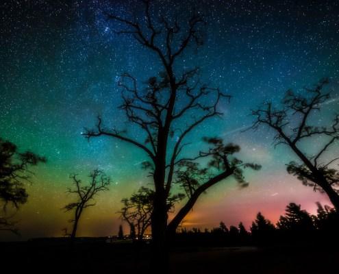 Starry Aurora Sky by Owen Weber