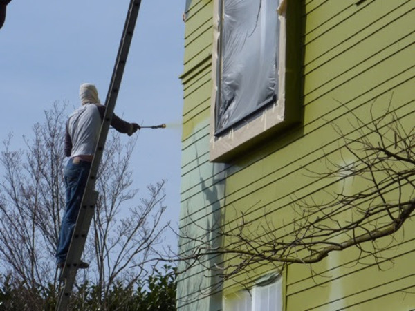 paint color on an entire side of your house