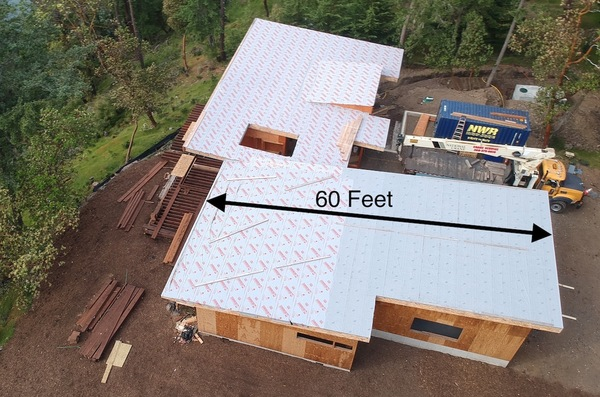 slope of the roof