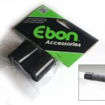 Ebon Co-Union Handlebar Tape Stoppers / Finishing Kit – Black (Pair)