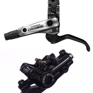 Shimano Deore M615 Pre-Bled Disc Brake Lever and Post Mount Caliper