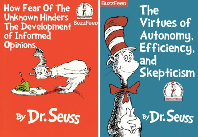 Maybe You Shouldn't Read Dr Seuss To Your Kids. « A Little