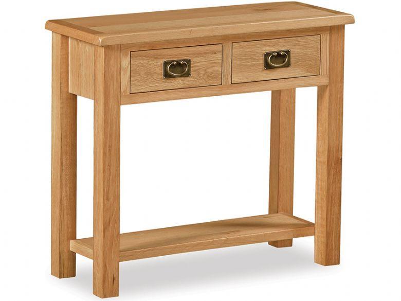 Fairfax Compact Oak Console Table