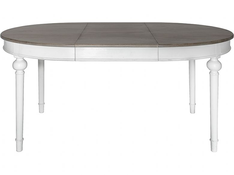 Laurent Cool Grey Round Extending Dining Table