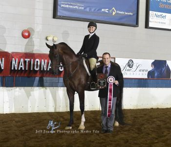 2018 Canadian National Top Ten Half Arabian Hunter Pleasure Open with Linda Fuller and Top Ten Adult Hunter Seat Equitation with Susie Ness.
