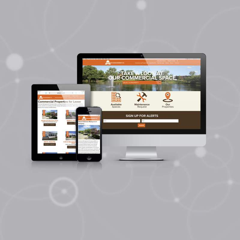 Anderson Management Company's New Website - Fresh Design and Mobile Responsive