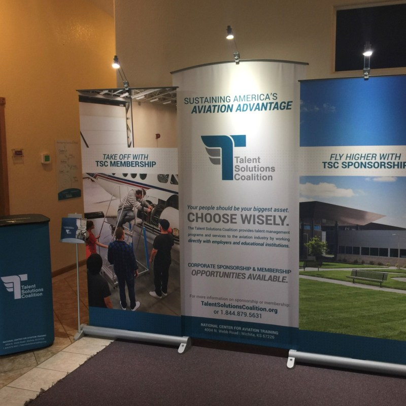 Talent Solutions Coalition Tradeshow Banner - Lee Media Group Graphic Design