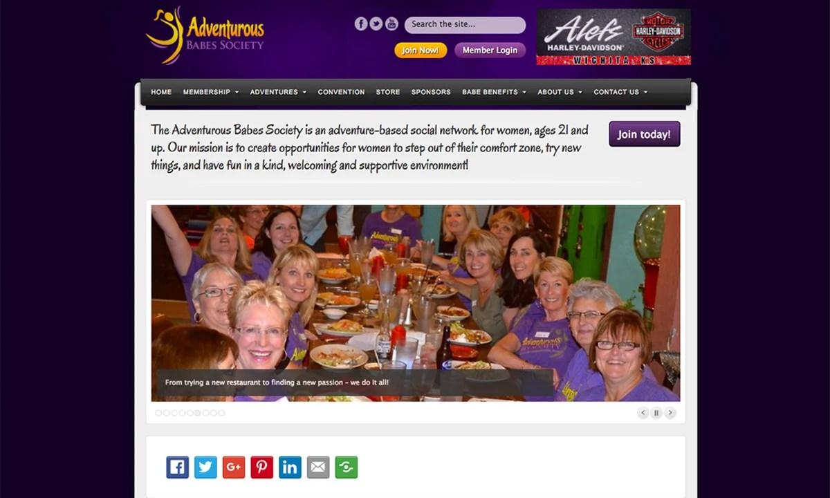 Adventurous Babes Society Old Website