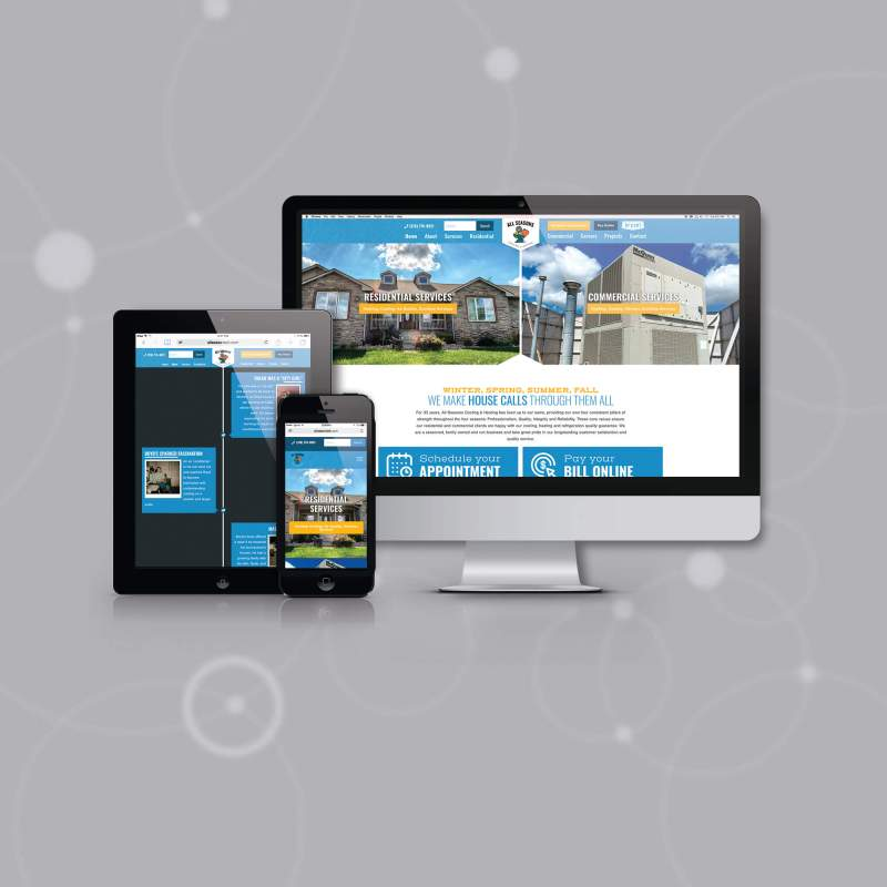 All Seasons Heats Up Online Presence with Custom LMG Website