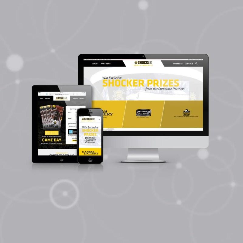 Custom Shocker Sports Properties Website Pops with Contest Entries