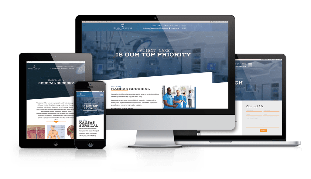 Kansas Surgical Consultants Redesigned Website
