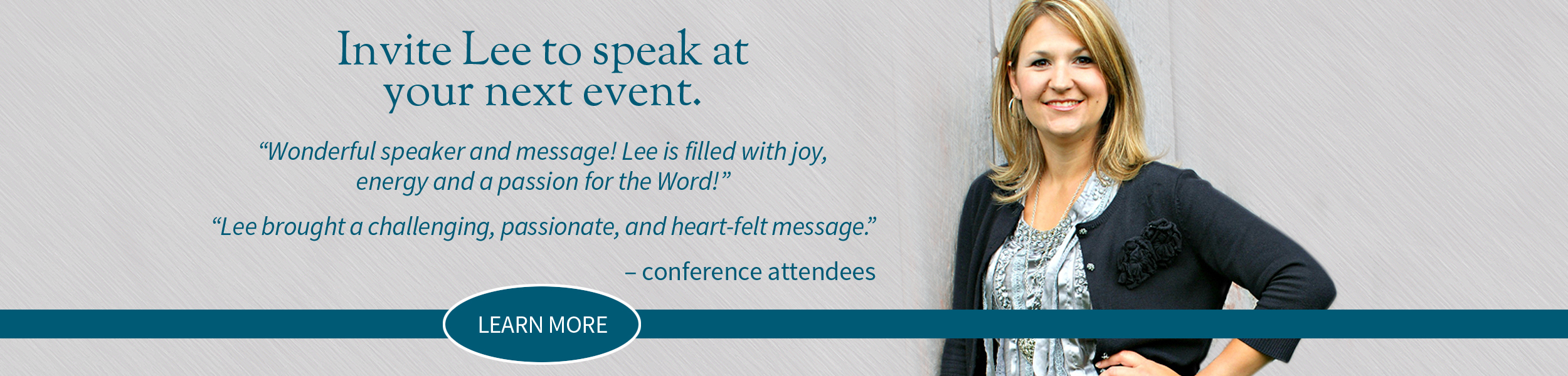 Invite Lee to Your Next Event