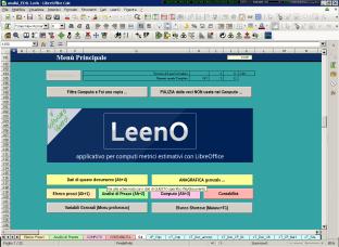 La schermata di benvenuto di LeenO