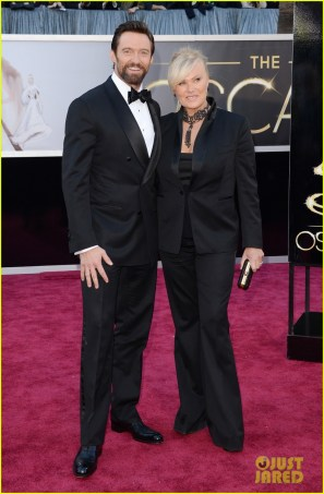 Hugh Jackman in Tom Ford with wife Deborrah-Lee Furness.