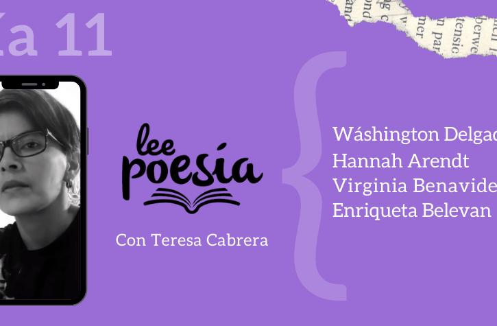 Lee Poesía en casa con Teresa Cabrera | Día 11