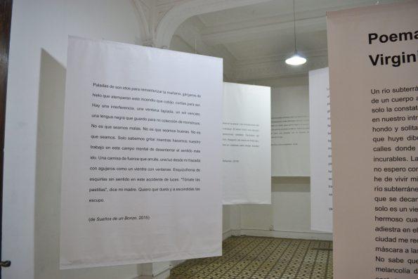 Instalación poética de Virginia Benavides en Monumental Callao