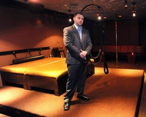 Eric Crewe, manager of Saints and Sinners couples club in Atlantic City.