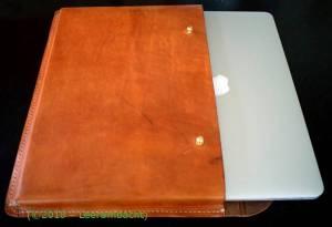 Vintage etui voor laptop