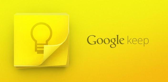 Google keep top