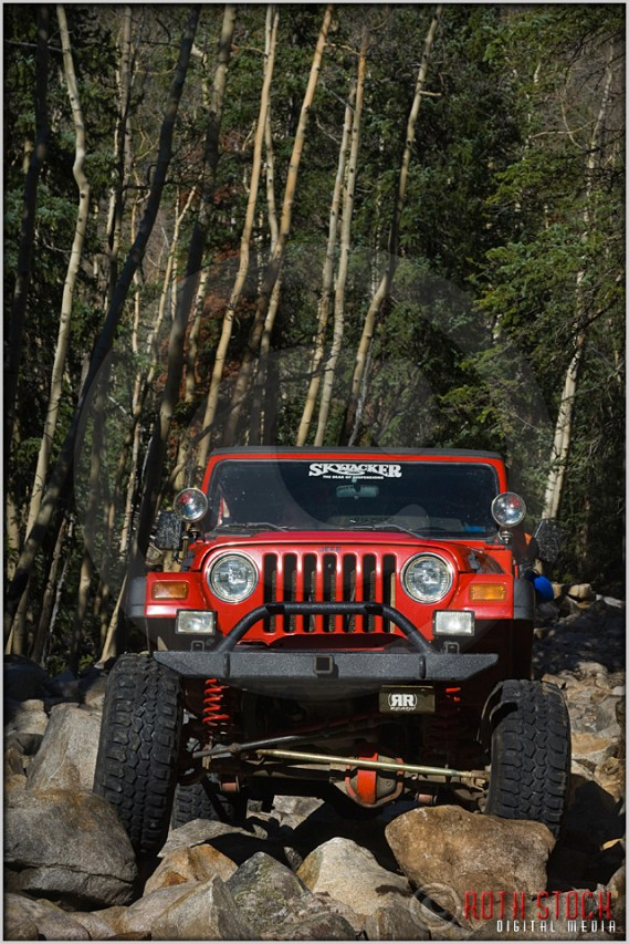 A Monster Jeep takes a rocky road to adventure in the Colorado Rockies.