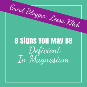 signs you may be deficient in magnesium