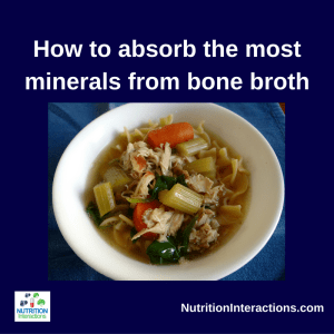 Minerals from bone broth