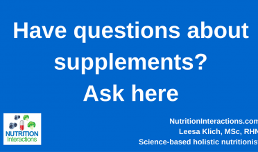 Supplement Questions?  Ask Here!