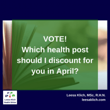 Health content…for less. Vote for the April discount!