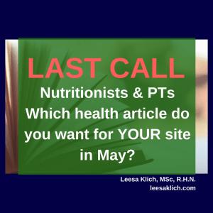 health article may