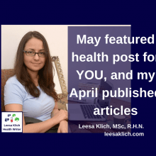 May featured post for YOUR site, and April health articles