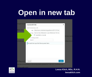 why research health blog posts open in new tab