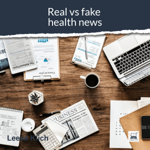 real vs fake health news newspaper laptop