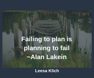 Failing to plan Alan Lakein
