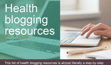 Health blogging resources