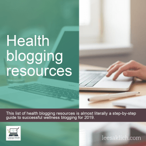 Health blogging resources 1