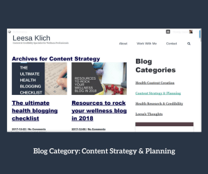 categories ideas content strategy & planning