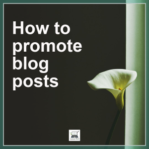 how to promote blog posts calla lilly